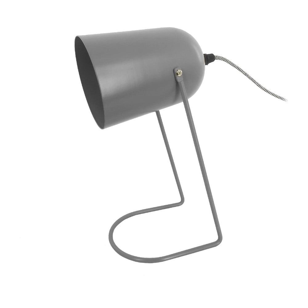 Szara lampa stołowa Leitmotiv Enchant