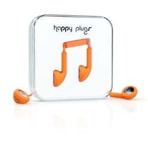Słuchawki Happy Plugs, pomarańczowe