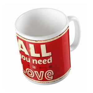 Ceramiczny kubek All You Need Is Love, 330 ml