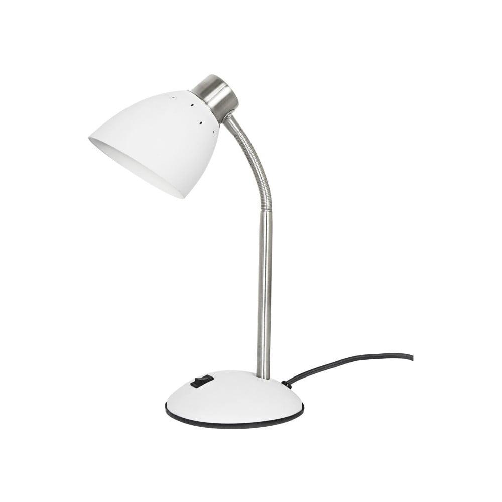 Biała lampa stołowa Leitmotiv Dorm