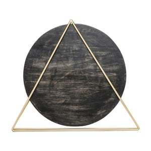 Czarna lampa stołowa Kare Design Triangle