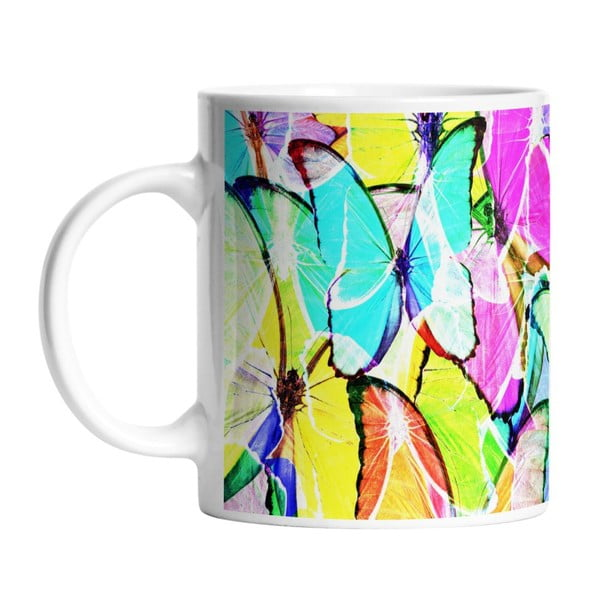 Ceramiczny kubek Neon Wings, 330 ml
