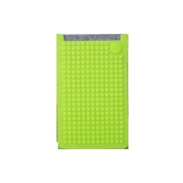 Pikselowe etui na telefon PixelArt, duże, szare/zielone
