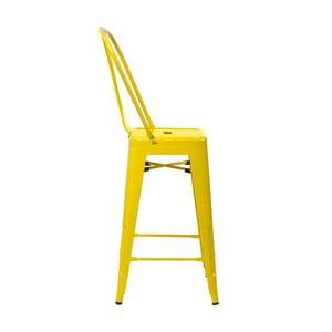 Żółte krzesło barowe D2 Paris