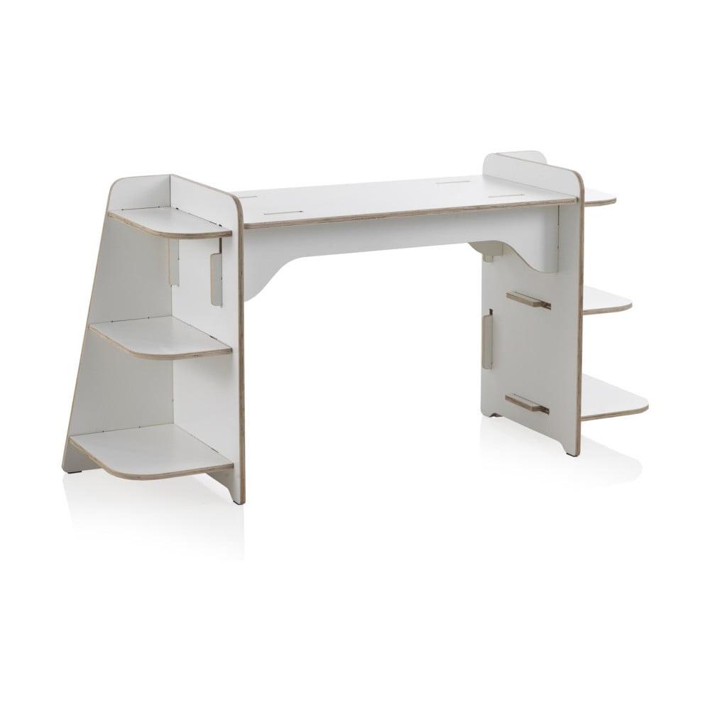 Białe biurko dziecięce ze sklejki Geese Piper