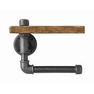 Półka drewniana z uchwytem na papier toaletowy Pipe