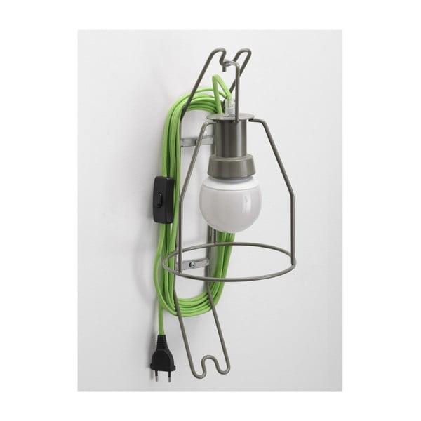 Kinkiet Walker, zielony kabel