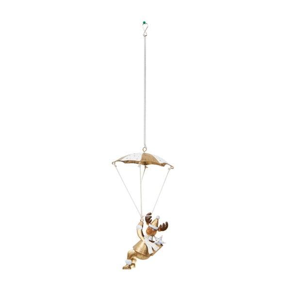 Dekoracja wisząca Archipelago Gold Deer Parachute Spring, 25 cm