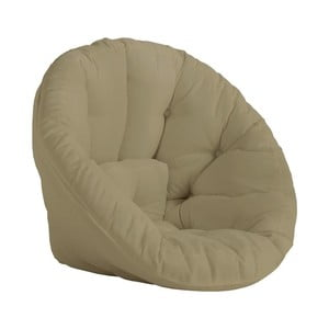 Beżowy fotel rozkładany odpowiedni na zewnątrz Karup Design OUT™ Nido Beige