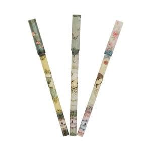 Zestaw 3 długopisów Santoro London Mirabelle