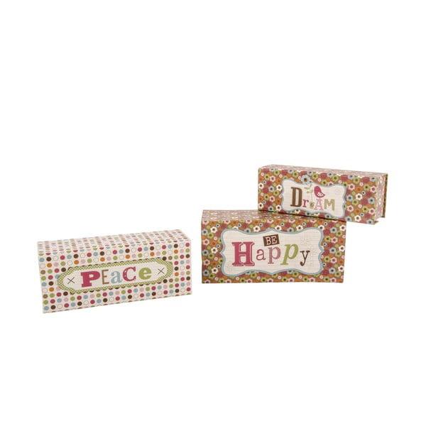 Zestaw 3 pudełek Vintage Dots
