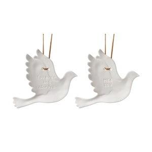 Zestaw 2 wiszących dekoracji Doves Messages