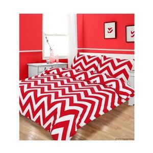 Pościel Zigzag Red, 135x200 cm