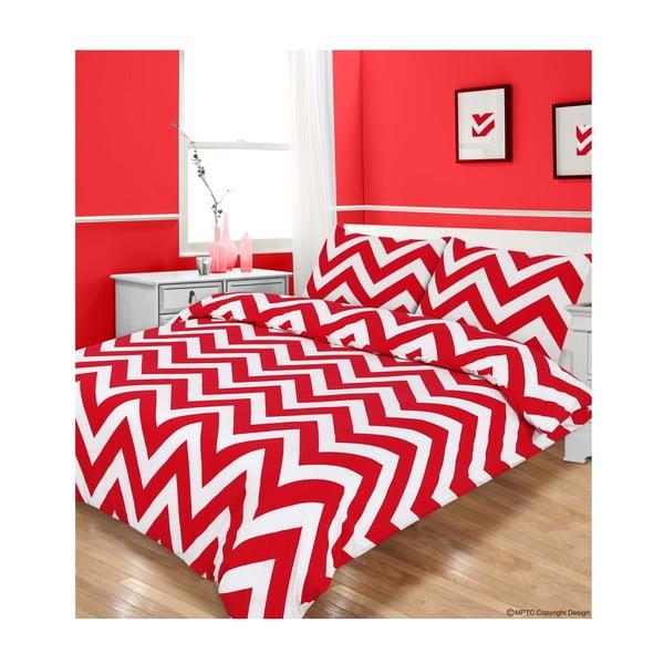 Pościel Zigzag Red, 200x200 cm