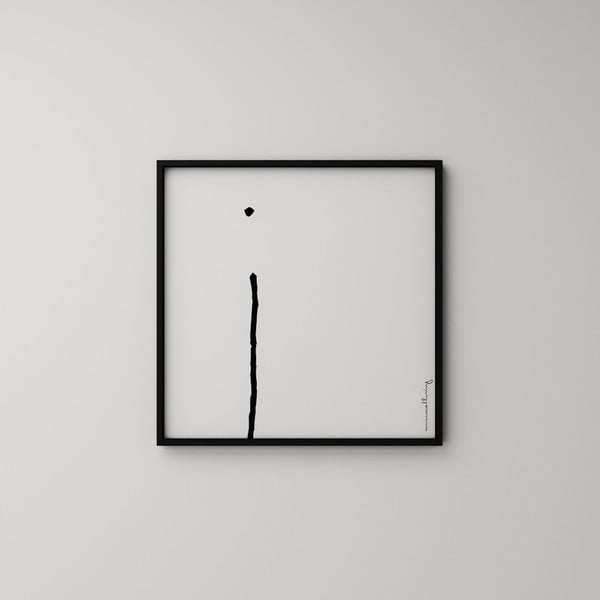 Plakat Litera I, 50x50 cm