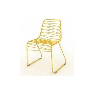 Żółte krzesło Magis Flux