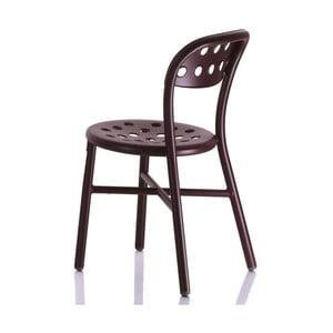 Ciemnoczerwone krzesło Magis Pipe