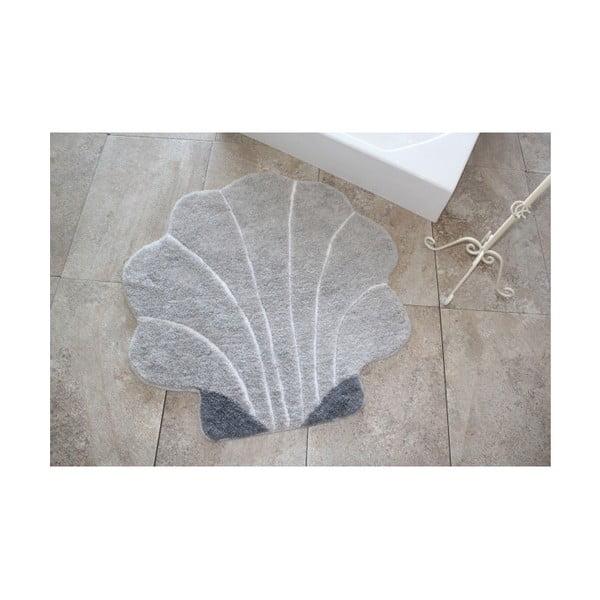 Dywanik łazienkowy Alessia Shell Grey, Ø 90 cm