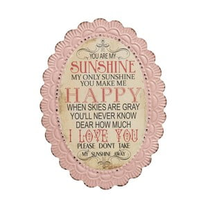 Tablica You are my sunshine, 46x34 cm