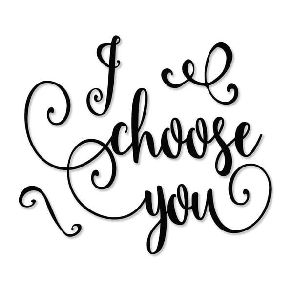 Plakat w drewnianej ramie I choose you, 38x28 cm