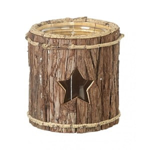 Lampion Star Wood