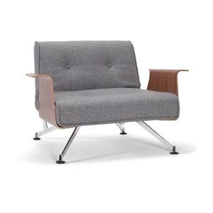 Szary fotel rozkładany z podłokietnikami Innovation Clubber Chair