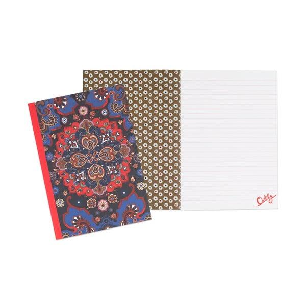 Zestaw 3 notatników w linie Portico Designs Oilily, 80 stron