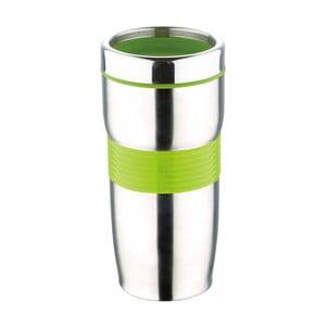 Zielony kubek podróżny Bergner Viaggio, 450 ml