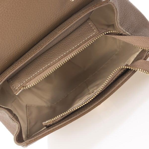 Beżowa skórzana torebka Giorgio Costa Dollaro