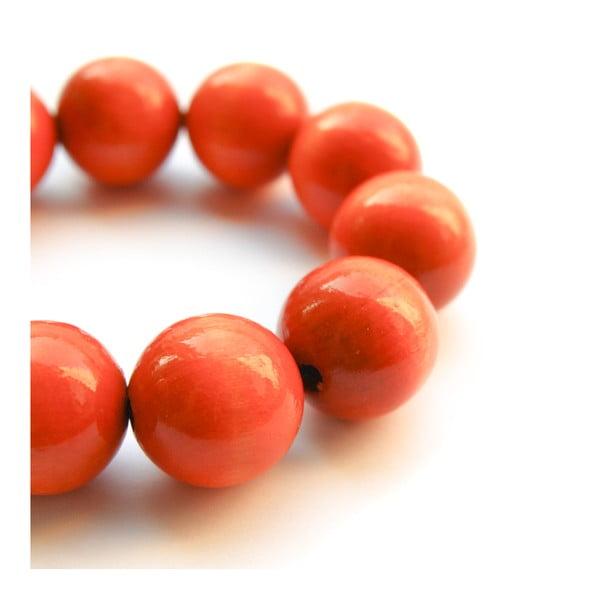 Pomarańczowa bransoletka drewniana Ko–ra–le Bubbles