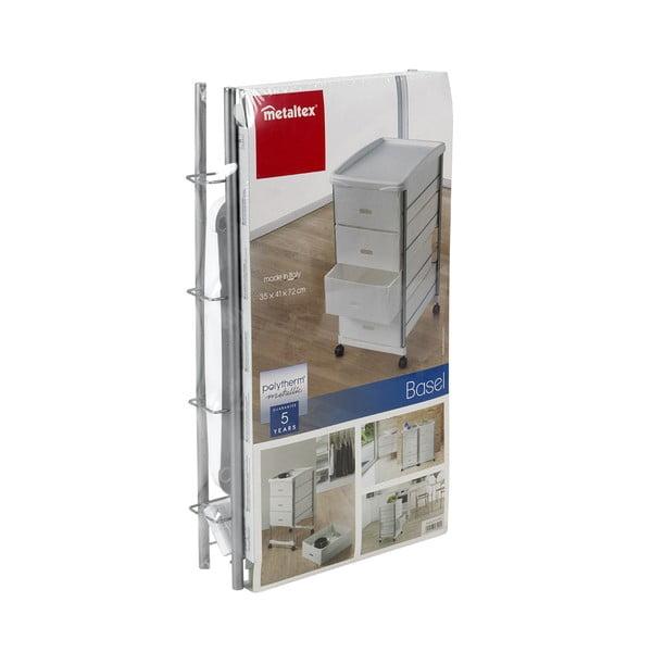 Regał na kółkach z 4 szufladami Metaltex, wys. 72 cm