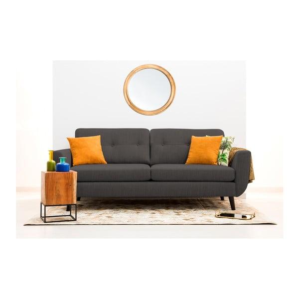 Antracytowa sofa 3-osobowa Vivonita Harlem