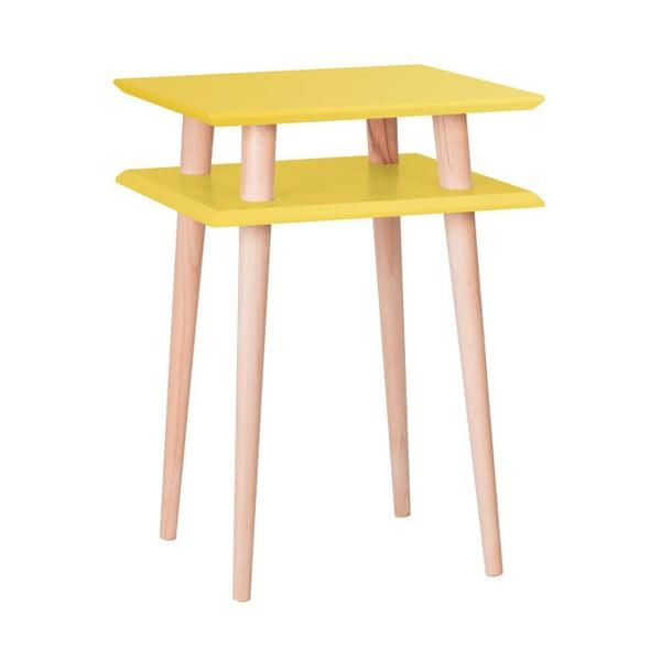 Żółty stolik Ragaba Square, 43x43 cm