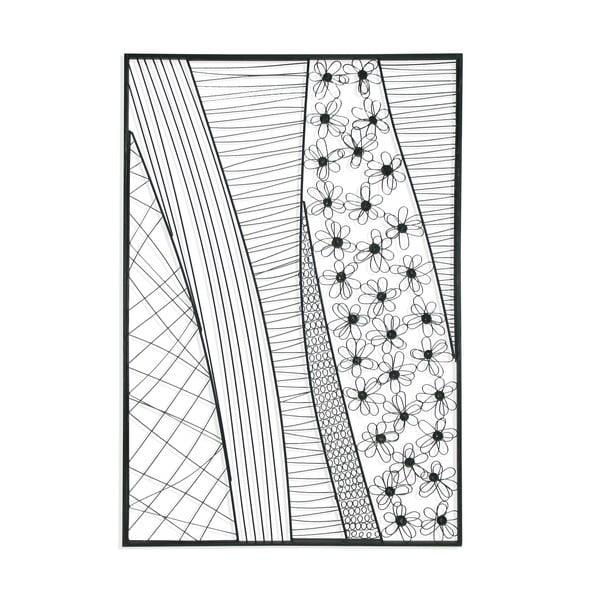Dekoracja naścienna Abstract Iron, 85x125 cm