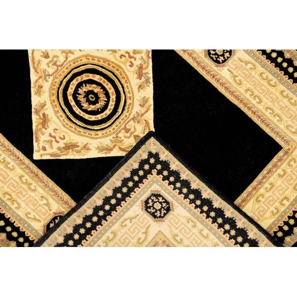 Dywan wełniany Bakero Vanilla/Black, 120x180 cm