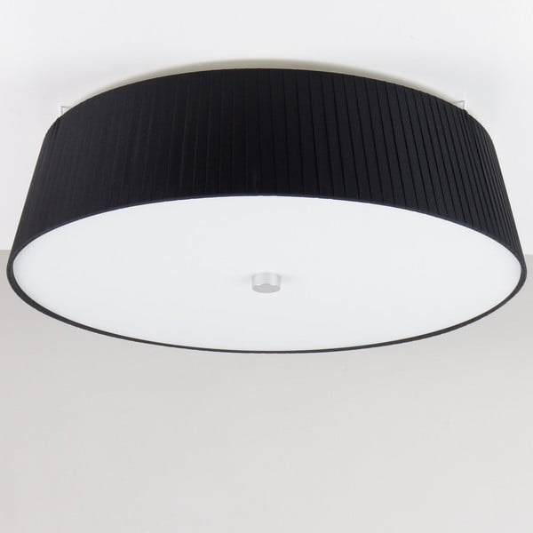 Czarna   lampa sufitowa Bulb Attack Dos Plisado, ⌀ 45cm