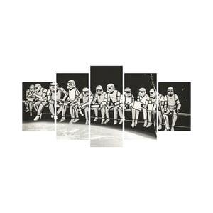 Wieloczęściowy obraz Black&White no. 1, 100x50 cm
