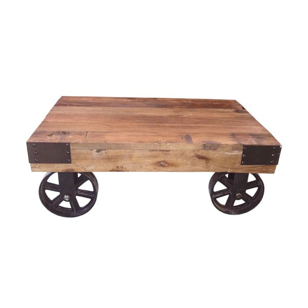 Metalowy stolik na kółkach Salon, 76x50 cm