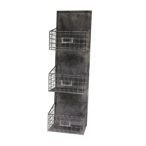 Półka z trzema koszykami Industry, 74 cm