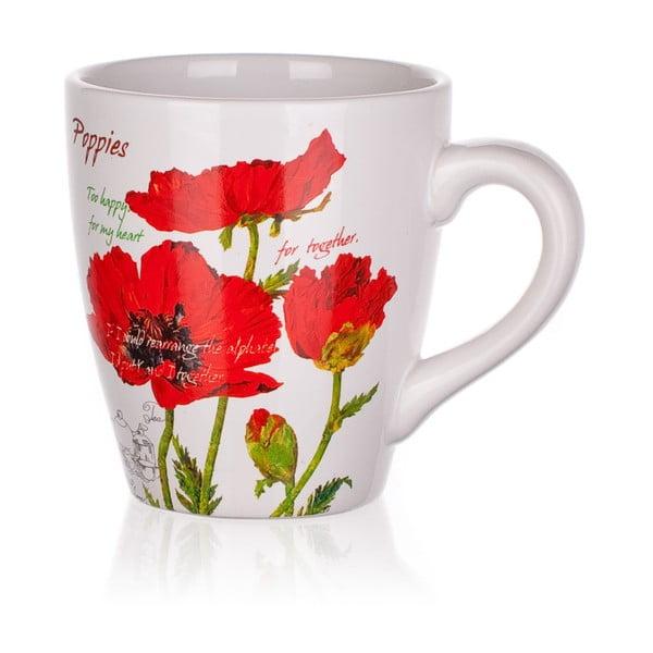 Kubek ceramiczny Banquet Red Poppy, 500 ml