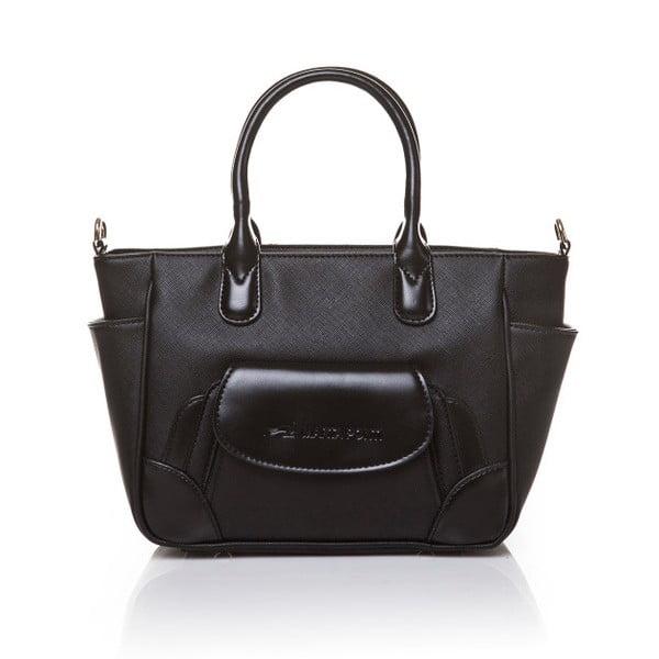Skórzana torebka do ręki Marta Ponti Pocket Deux, czarna