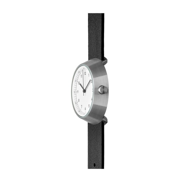 Zegarek White Fuji Black Leather, 43 mm