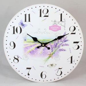 Zegar drewniany Lavender Field, 17 cm