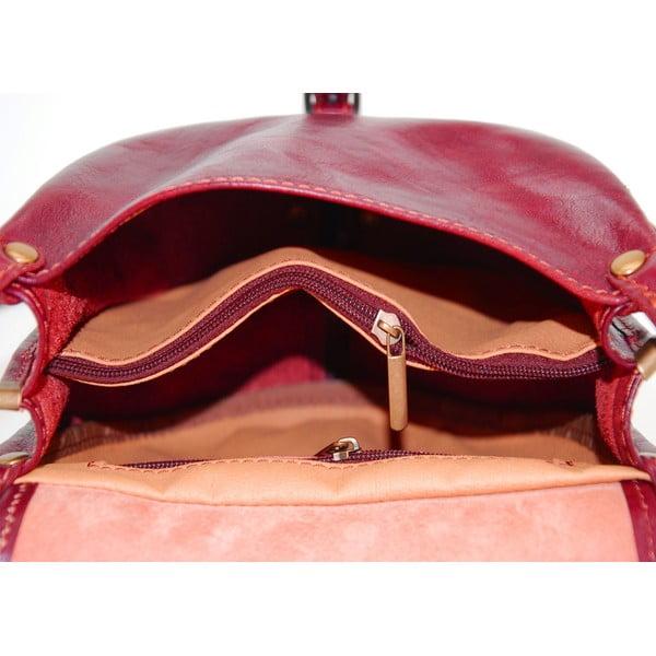 Skórzana torebka Amarette Rosso