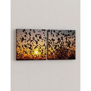 Zestaw 2 obrazów Grupa ptaków