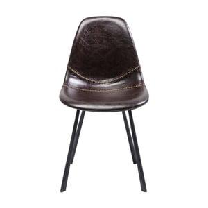 Brązowe krzesło Kare Design Lounge