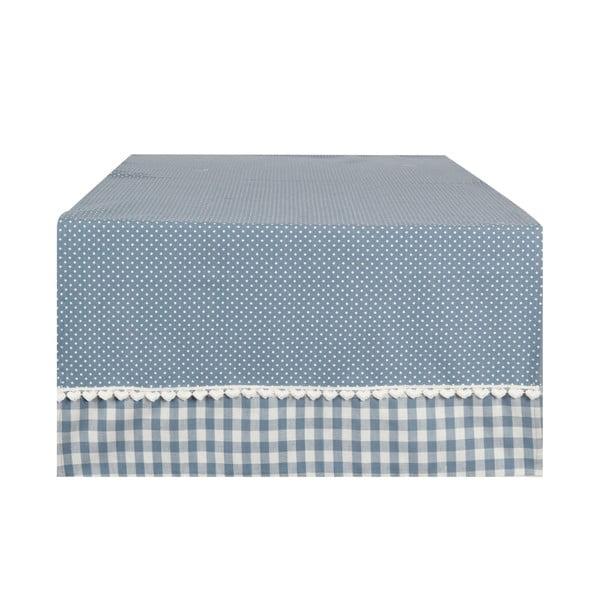 Bieżnik Basic Hearts 50x140 cm, niebieski
