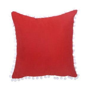 Czerwona poszewka na poduszkę s ozdobným lemem Apolena, 43x43 cm