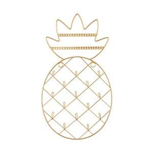 Ramka z uchwytami na biżuterię w złotej barwie Sass & Belle Pinapple