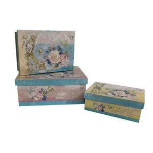 Zestaw 3 pudełek Antic Line Blue Vintage